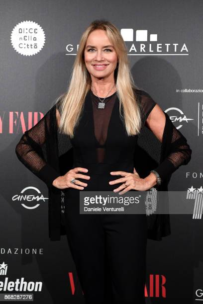Gloria Guida attends Telethon Gala during the 12th Rome Film Fest at Villa Miani on October 30 2017 in Rome Italy