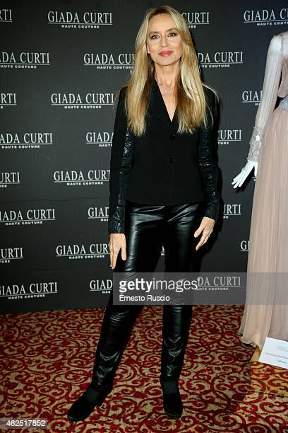 Gloria Guida attends the Giada Curti fashion show as a part of AltaRoma 2015 at Hotel St Regis on January 30, 2015 in Rome, Italy.
