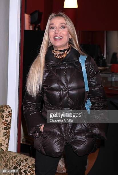 Gloria Guida attends the Ivana Chubbuck Acting Seminar at Teatro Ambra Jovinelli on November 24, 2013 in Rome, Italy.