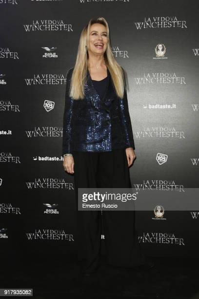 Gloria Guida attends the 'La Vedova Winchester' Premiere at Cinema Adriano on February 13, 2018 in Rome, Italy.
