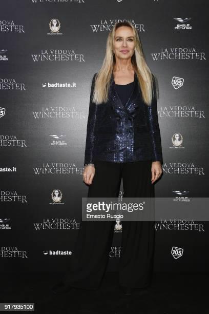 Gloria Guida attends the 'La Vedova Winchester' Premiere at Cinema Adriano on February 13 2018 in Rome Italy
