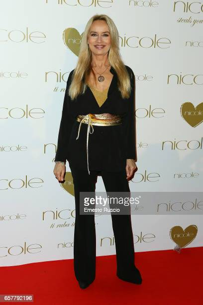 Gloria Guida attends the red carpet of the Nicole fashion show at Palazzo Dei Congressi on March 25 2017 in Rome Italy
