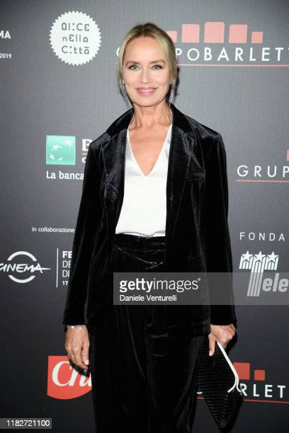 Gloria Guida attends the Telethon dinner during the 14th Rome Film Festival on October 22, 2019 in Rome, Italy.