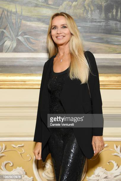Gloria Guida attends the Telethon Gala during the 13th Rome Film Fest at Villa Miani on October 19, 2018 in Rome, Italy.