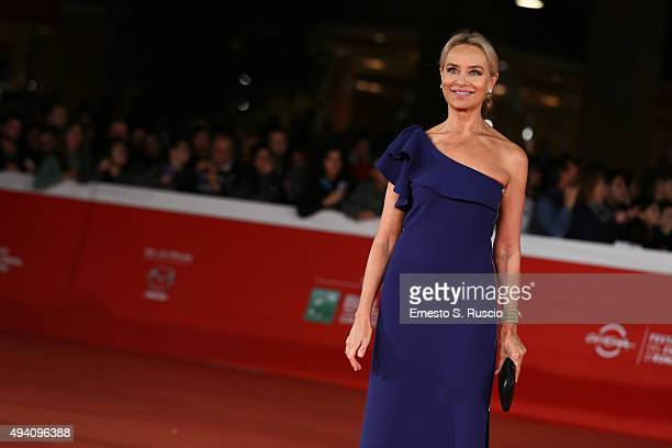 Gloria Guida walks the red carpet for 'La Grande Bellezza' during the 10th Rome Film Fest on October 24, 2015 in Rome, Italy.