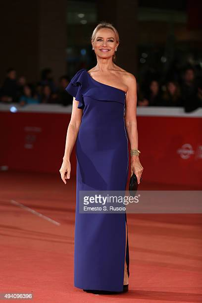 Gloria Guida walks the red carpet for 'La Grande Bellezza' during the 10th Rome Film Fest on October 24 2015 in Rome Italy