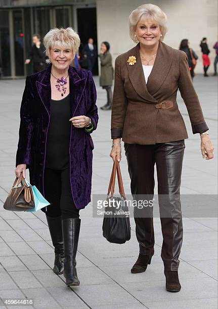Gloria Hunniford and Angela Rippon sighting at the BBC on November 27 2014 in London England