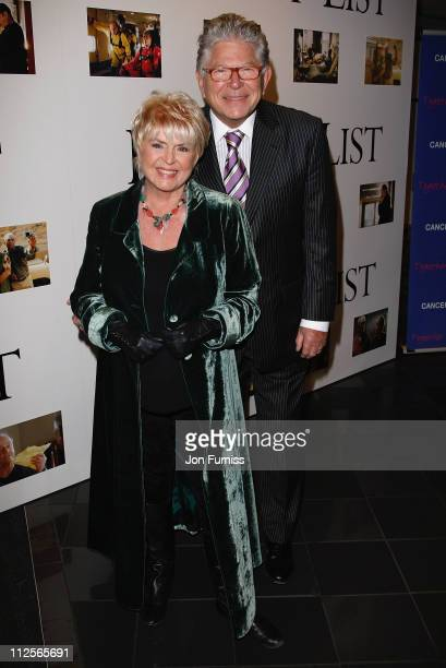 Gloria Hunniford and guest attends The Bucket List film premiere held at the Vue West End on January 23 2008 in London England