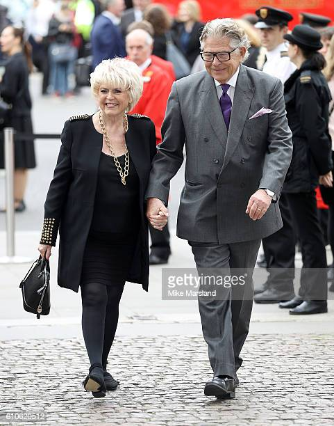 Gloria Hunniford and her husband Stephen Way attend a memorial service for the late Sir Terry Wogan at Westminster Abbey on September 27 2016 in...