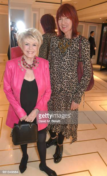 Gloria Hunniford and Janet Street Porter attend the TRIC Awards 2018 held at The Grosvenor House Hotel on March 13 2018 in London England