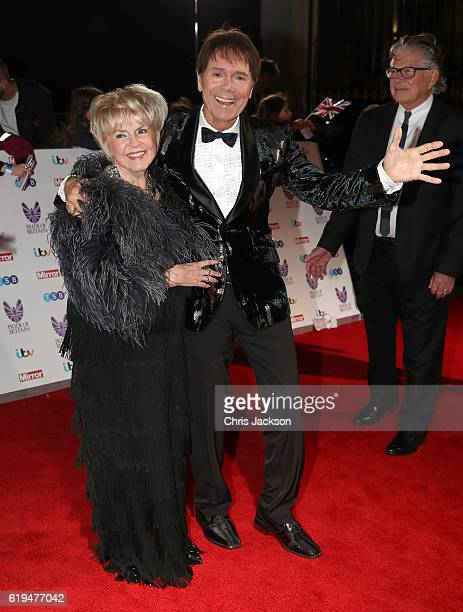 Gloria Hunniford and Sir Cliff Richard attends the Pride Of Britain awards at the Grosvenor House Hotel on October 31 2016 in London England