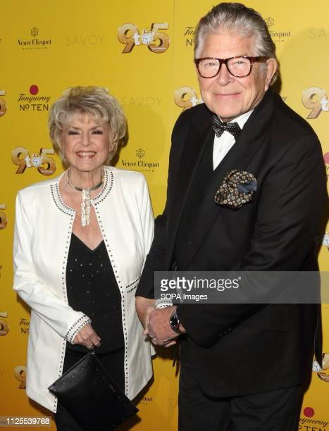 Gloria Hunniford and Stephen Way arrive for the 9 to 5 the Musical Gala Night at The Savoy Theatre The Strand