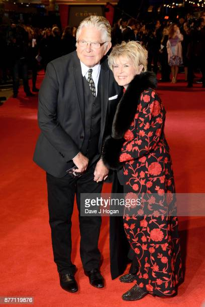 Gloria Hunniford and Stephen Way attend the World Premiere of season 2 of Netflix 'The Crown' at Odeon Leicester Square on November 21 2017 in London...