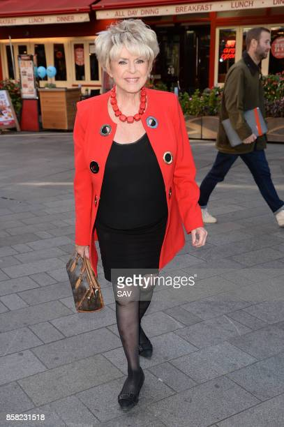 Gloria Hunniford arrives at Global House on October 6 2017 in London England