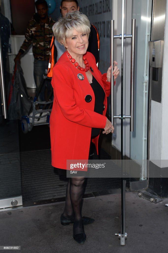Gloria Hunniford arrives at Global House on October 6, 2017 in London, England.