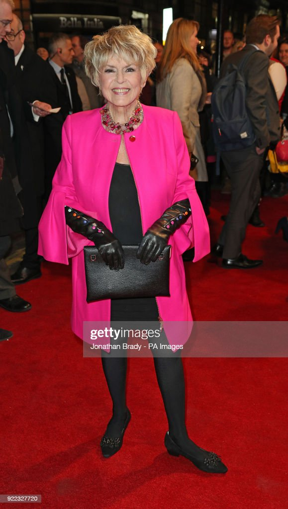 Gloria Hunniford arrives at the BBC event Bruce: A Celebration at the London Palladium, which will honour the life of the late entertainer Sir Bruce Forsyth.