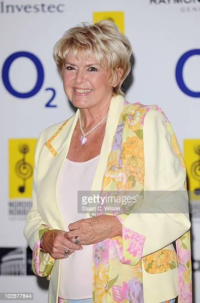 Gloria Hunniford arrives at the O2 Silver Clef Awards 2010 at the London Hilton on July 2 2010 in London England