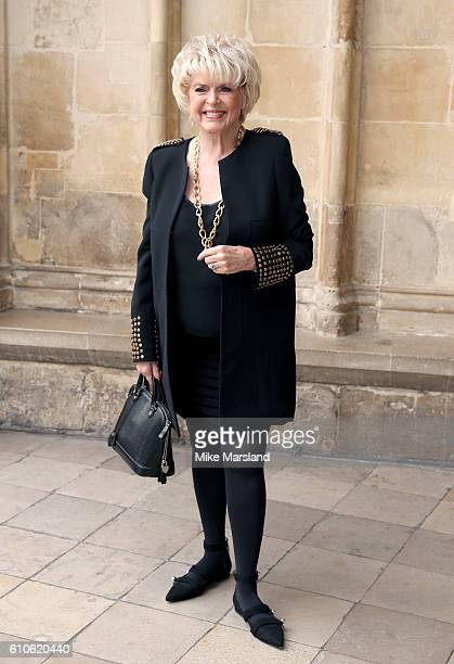 Gloria Hunniford attends a memorial service for the late Sir Terry Wogan at Westminster Abbey on September 27 2016 in London England