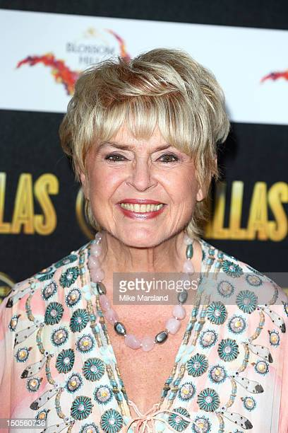 Gloria Hunniford attends a party to celebrate the new Channel 5 television series of 'Dallas' at Old Billingsgate on August 21 2012 in London United...