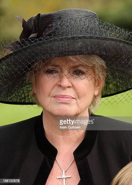 Gloria Hunniford Attends The Funeral Of Caron Keating At Herver Castle In Kent