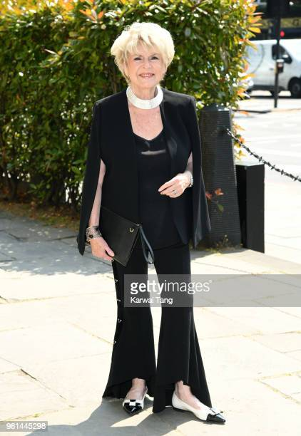 Gloria Hunniford attends the funeral of Dale Winton at the Old Church 1 Marylebone Road on May 22 2018 in London England