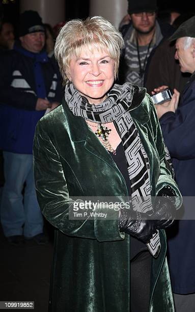 Gloria Hunniford attends the Gala Preview of 'Flare Path' starring Sienna Miller at Theatre Royal on March 10 2011 in London England