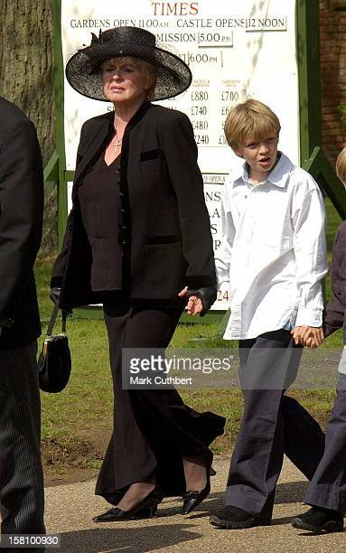 Gloria Hunniford Grandson Charlie Attend The Funeral Of Caron Keating At Herver Castle In Kent