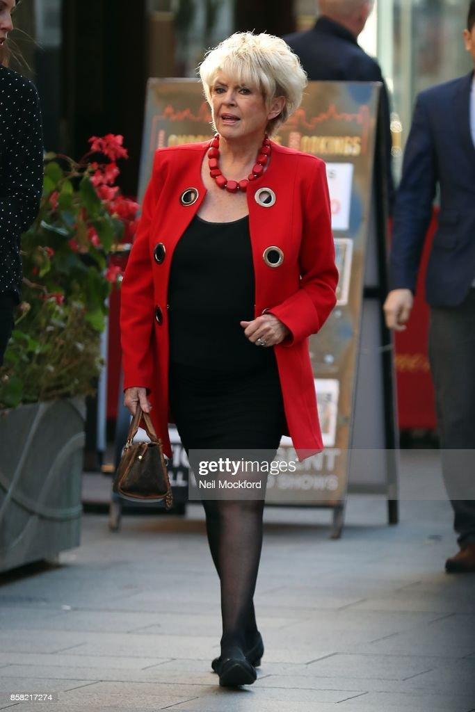 Gloria Hunniford seen arriving at Global Radio Studios on October 6, 2017 in London, England.