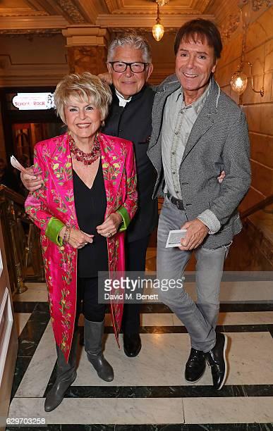 Gloria Hunniford Stephen Way and Cliff Richard attend the Opening Night performance of Cinderella at London Palladium on December 14 2016 in London...