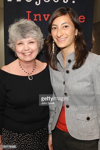 Gloria Killian and Jessica Sanders director during After Innocence Project Involve Screening and QA at Nate Holden Performing Arts Center in Los...