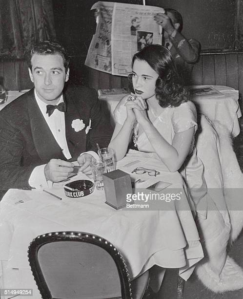 Gloria Laura Vanderbilt who will inherit $34000 fortune when she becomes 21 is shown at a local nightclub with Pasquale DiCicco After their...