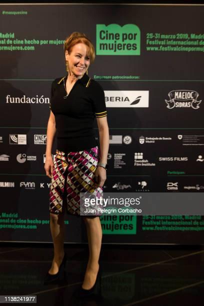 Gloria Lomana journalist attends the inauguration of 'Cine Por Mujeres' Festival at Palacio de la Prensa on March 25 2019 in Madrid Spain