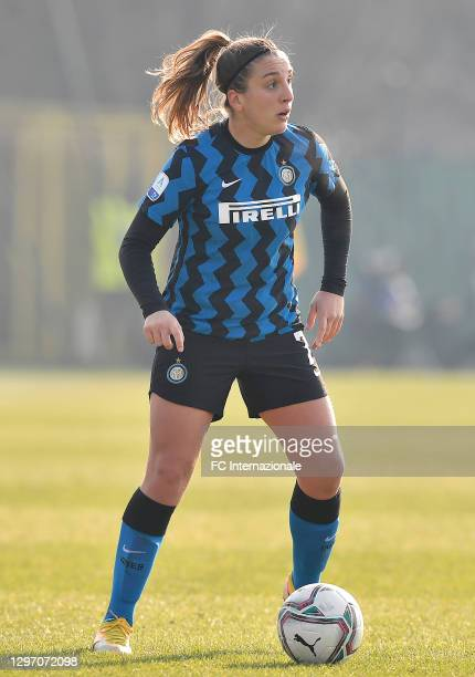 Gloria Marinelli of FC Internazionale in action during the Women Serie A match between FC Internazionale and Juventus at Suning Youth Development...