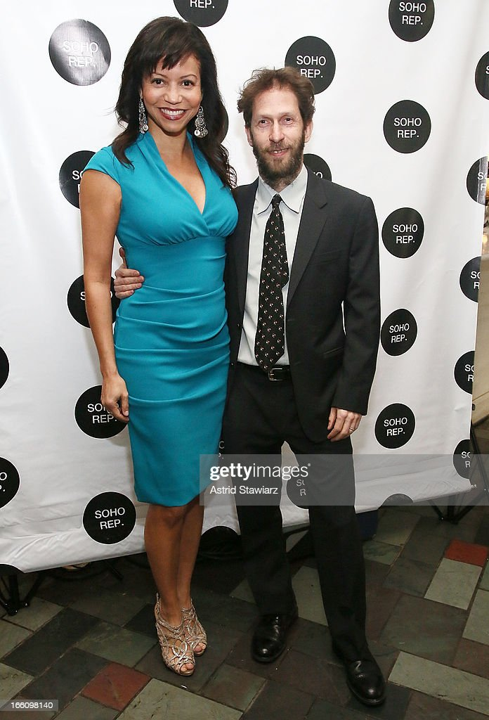 Gloria Reuben and Tim Blake Nelson attend Soho Rep's 2013 Spring Gala on April 8, 2013 in New York City.
