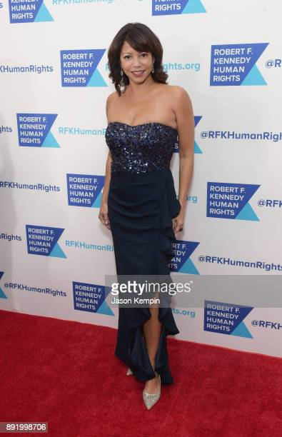 Gloria Reuben attends Robert F Kennedy Human Rights Hosts Annual Ripple Of Hope Awards Dinner on December 13 2017 in New York City