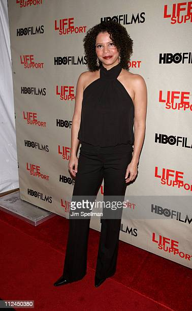 Gloria Reuben during HBO's 'Life Support' New York Screening Outside Arrivals at Chelsea West Theaters in New York City New York United States