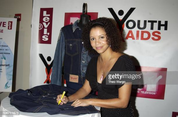 Gloria Reuben during Levi Strauss Co Helps YouthAIDS Launch A Global CalltoAction to Stop the Spread of HIV/AIDS Among Youth with a CelebrityStudded...