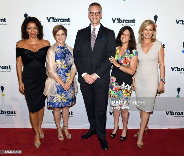 Gloria Reuben Vibrant President and CEO Kimberly Williams Honoree Charles P Fitzgerald Dinner Chair and Board Chair Jennifer Ashley and Emcee Dr...