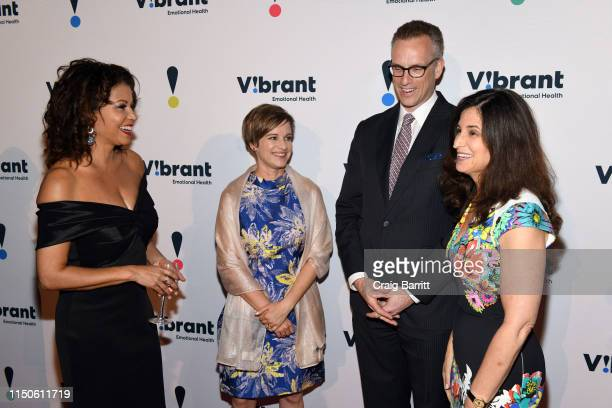 Gloria Reuben Vibrant President and CEO Kimberly Williams Honoree Charles P Fitzgerald Dinner Chair and Board Chair Jennifer Ashley attend 27th...