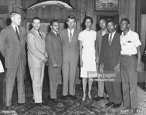 Gloria Richardson civil rights activist meets with Attorney General Robert Kennedy to discuss the Cambridge protests calling for an end to racial...