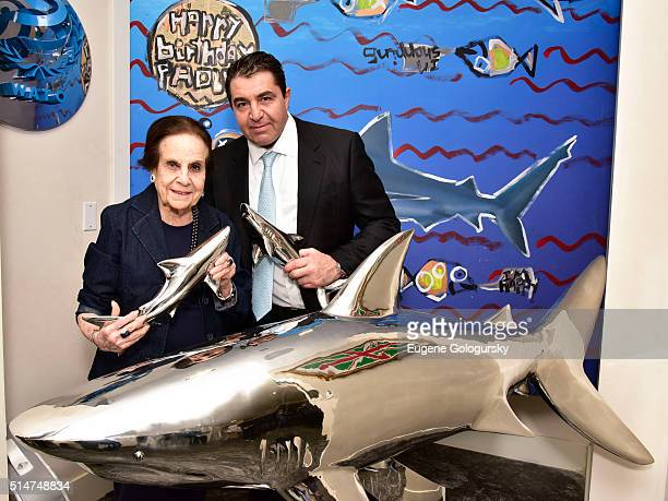 Gloria Starr Kins and Paolo Zampolli attend We Are The Oceans Wato And Save Our Shark Coalition Hosted By Ambassador Paolo Zampolli and Ambassador...