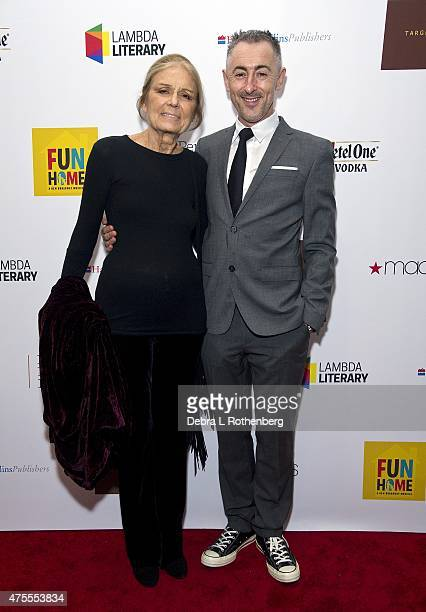 Gloria Steinem and Alan Cumming arrive at the 27th Annual Lambda Literary Awards at The Great Hall at Cooper Union on June 1 2015 in New York City