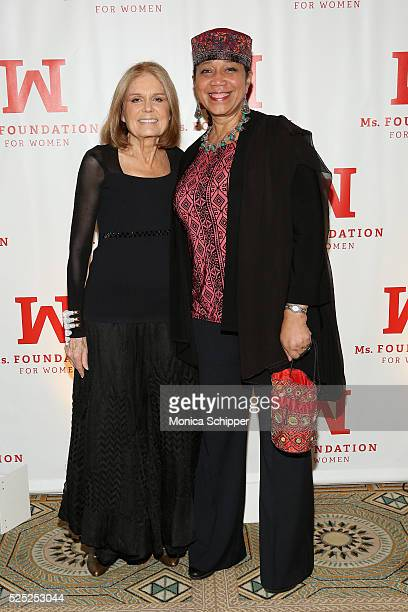 Gloria Steinem and Ambassador Qubilah Shabazz attend Ms Foundation For Women 2016 Gloria Awards Gala at The Pierre Hotel on April 27 2016 in New York...