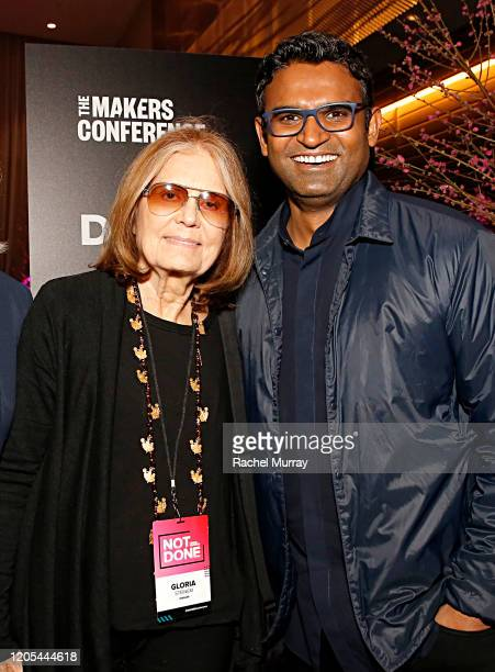 Gloria Steinem and CEO Verizon Media Guru Gowrappan attend The 2020 MAKERS Conference at the InterContinental Los Angeles Downtown on February 10...