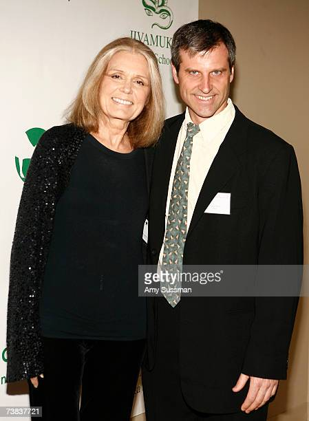 Gloria Steinem and Farm Sanctuary President Gene Baur attend Farm Sanctuary in the City A Benefit for Compassion at the Jivamukti Yoga School on...