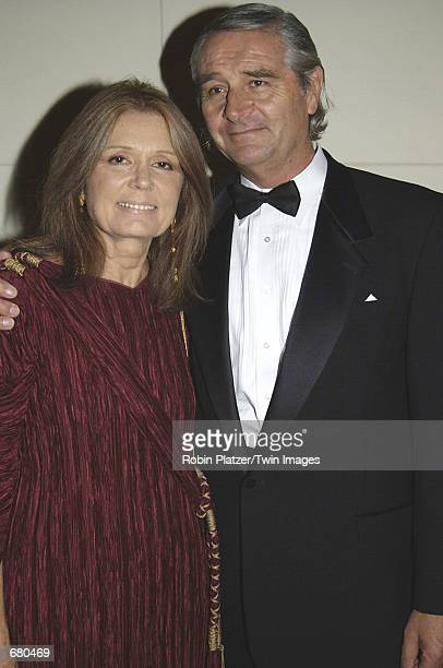 Gloria Steinem and her husband David Bale attend the New York Landmarks Conservancy Gala November 5 2001 in New York City