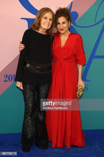 Gloria Steinem and Kathy Najimy attend the 2017 CFDA Fashion Awards at Hammerstein Ballroom on June 5 2017 in New York City