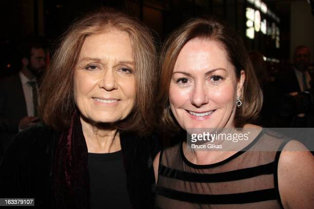 Gloria Steinem and producer Kate McCauley Hathaway attend the after party for the opening night of Ann at The Plaza Hotel on March 7 2013 in New York...