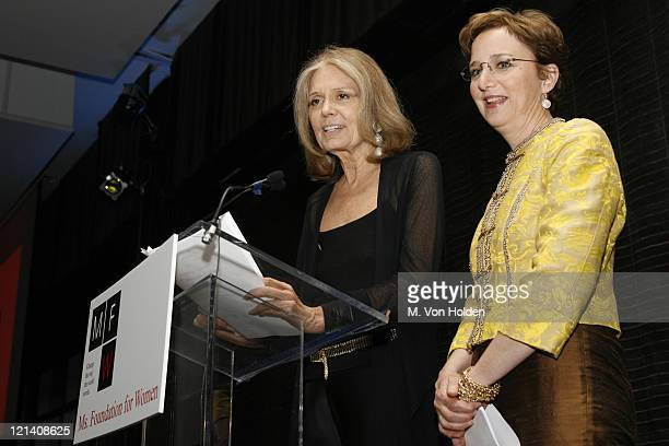 Gloria Steinem and Sara Gould during Ms Foundation for Women's 18th Annual Gloria Awards at Mandarin Hotel in New York NY United States