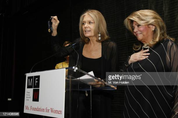 Gloria Steinem and Susan Grode during Ms Foundation for Women's 18th Annual Gloria Awards at Mandarin Hotel in New York NY United States